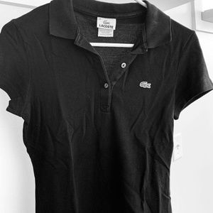 Lacoste Black Knit Polo